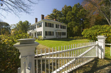 middlesex: Home of author and transcendentalist, Ralph Waldo Emerson, in historical Concord, Massachusetts, New England Editorial
