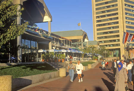sightseers: Tourists Strolling, Baltimore, Maryland