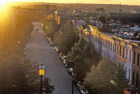 abodes: Street at Sunset, Baltimore, Maryland