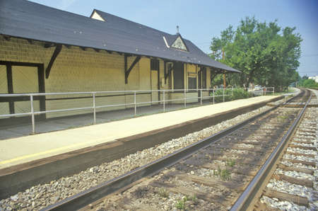 montgomery: Old Train Station, Montgomery County, Maryland Editorial