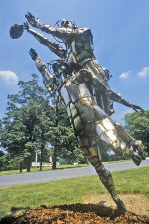 metal sculpture: Scultura in metallo, Rockville, Maryland