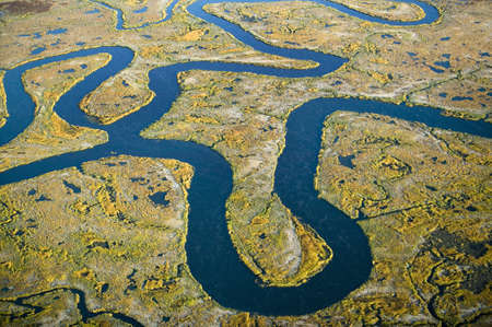 salt marsh: Aerial view of marsh, wetland abstraction of salt and seawater, and Rachel Carson Wildlife Sanctuary in Wells, Maine Editorial