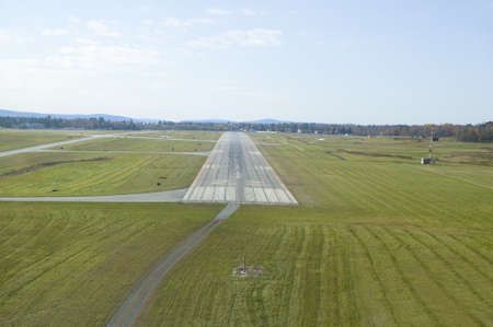 landing strip: Aerial view of landing strip for Sanford Maine airport