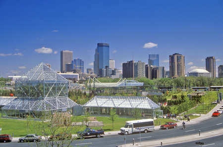 conservatory: Minneapolis Sculpture Garden and John Cowles Conservatory, Minneapolis, MN Editorial