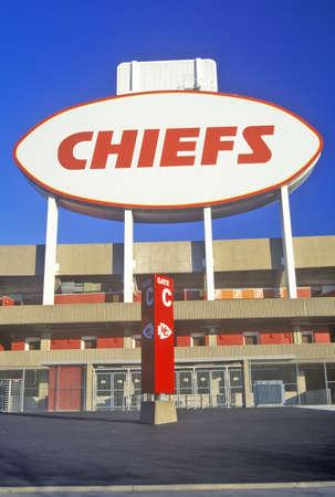 mimo: Arrowhead Stadium, hogar de los Jefes de Kansas City, Kansas City, MO Editorial