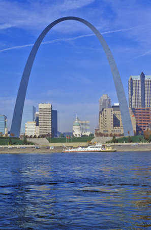 st  louis arch: St. Louis Arch from Mississippi River, St. Louis, MO