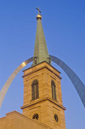 st  louis arch: Historic Christ Cathedral Church and St. Louis Arch, MO