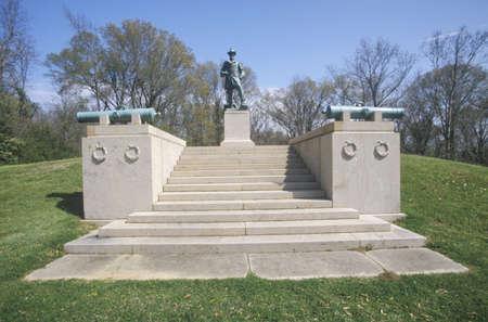 luitenant: Gedenkteken aan de Amerikaanse luitenant-kolonel William Freeman Vilas van 1863 bij Vicksburg National Military Park, MS