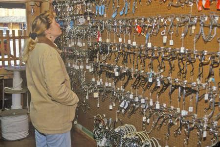 Three Forks Custom Saddlery, MT Stock Photo - 20515733