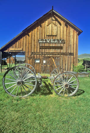 livery: Livery barn in the Ghost Town near Virginia City, MT