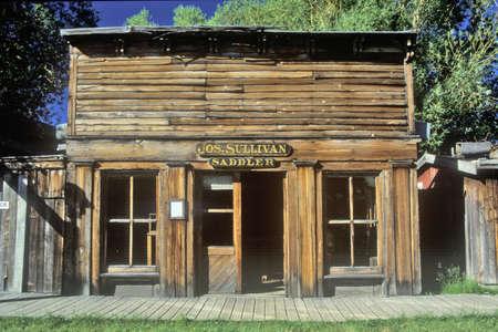 saddler: Old Saddler building in Ghost Town near Virginia City, MT Editorial