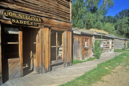 ghost town: Old Saddler building in Ghost Town near Virginia City, MT Editorial