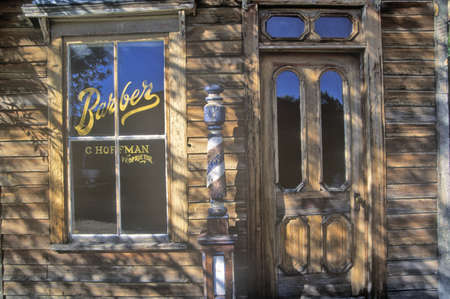 barbershop: Barbershop in Ghost Town near Virginia City, MT