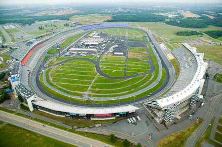 Aerial view of North Carolina Speedway in Charlotte, NC
