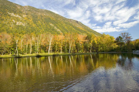 notch: Crawford Notch State Park in the White Mountains, New Hampshire