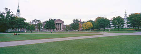 school campus: Panoramic view of the campus of Dartmouth College in Hanover, New Hampshire