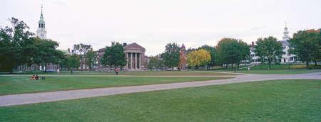 hampshire: Vista panor�mica del campus de Dartmouth College en Hanover, New Hampshire