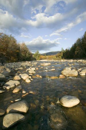notch: Autumn stream in Crawford Notch State Park in White Mountains of New Hampshire, New England
