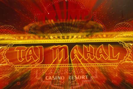 Neon sign outside of Donald Trump's Taj Mahal Casino in Atlantic City, NJ Stock Photo - 20491168