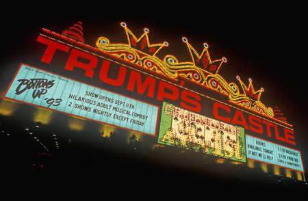 Trump's Castle Casino on boardwalk in Atlantic City, NJ