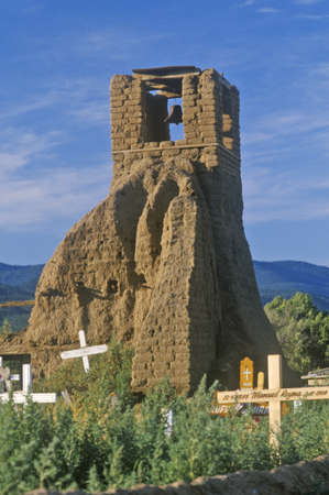 pueblo: Graveyard and church bells in Pueblo, NM