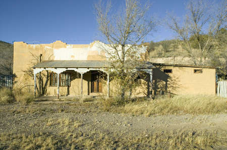 Deserted southwestern house on Mescalero Apache Indian Reservation near Ruidoso and Alto, New Mexico