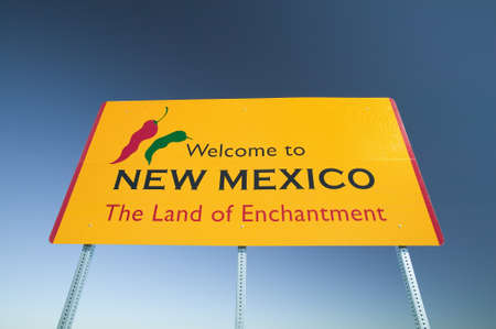 enchantment: Welcome to New Mexico state sign, The Land of Enchantment Editorial