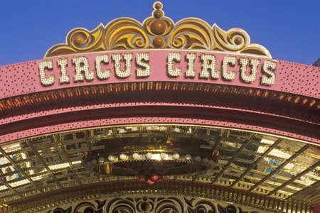 nv: Circus Circus Hotel and Casino, Las Vegas, NV Editorial