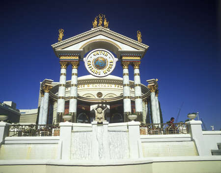 nv: Exterior of Caesars Palace, Hotel and Casino, Las Vegas, NV Editorial