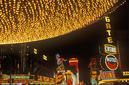 nv: Neon lights at night, Downtown, Las Vegas, NV