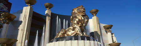 nv: Panoramic view of MGM Lion and MGM Grand Hotel in Las Vegas, NV