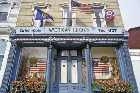 seneca: Entrance to the American Legion Hall in Seneca Falls, NY Editorial