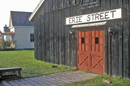 erie: Barn at Erie Street in Erie Canal Village, Rome, NY