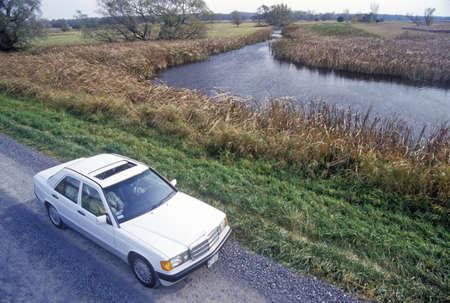 seneca: Car on I-90 in Montezuma National Wildlife Refuge, Seneca Falls, NY