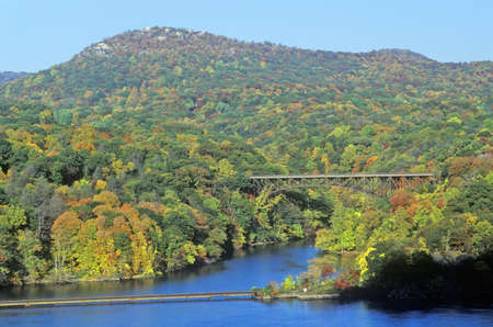 George W. Perkins Memorial Drive with Hudson River and Bear Mountain Bridge, NY
