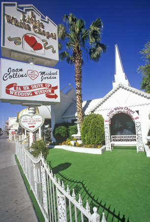 nv: Little White Wedding Chapel, Las Vegas, NV Editorial