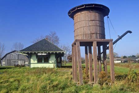 Grain silo in Erie Canal village, Rome, NY