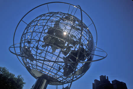 Globe Sculpture in front of Trump International Hotel and Tower on 59th Street, New York City, NY Editorial