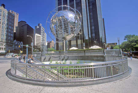 Globe Sculpture in front of Trump International Hotel and Tower on 59th Street, New York City, NY