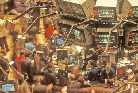 trading board: Dow Jones, New York Stock Exchange, Wall Street, New York City, NY Editorial