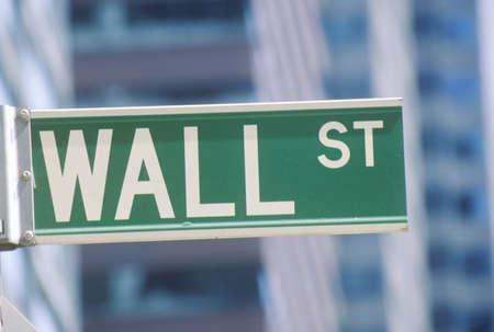 bolsa de valores: Bolsa de Nueva York la muestra de calle, Wall Street, Nueva York, NY
