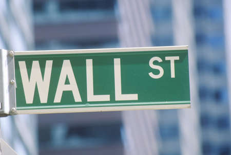 stock photography: New York Stock Exchange street sign, Wall Street, New York City, NY Editorial
