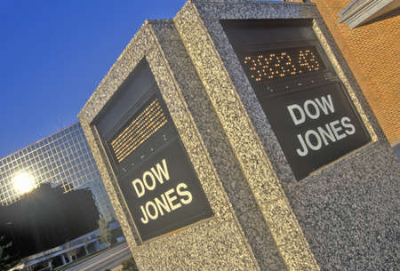 dow: Dow Jones Stock Market marker, St. Louis, Missouri