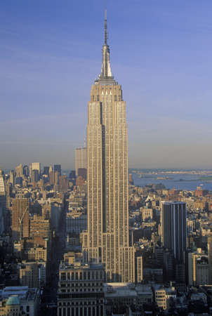 Empire State Building at sunrise, New York City, NY