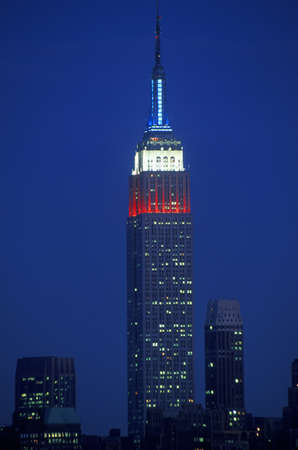 Empire State Building as seen from Weehawken New Jersey at night Stock Photo - 20514840
