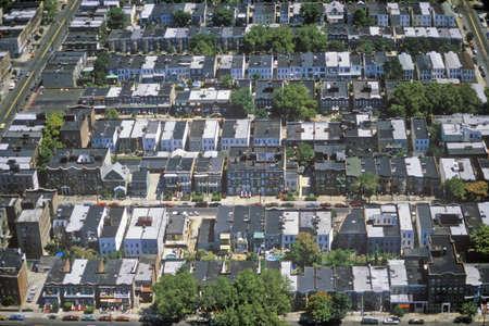 Luchtfoto van Queens, NY Redactioneel