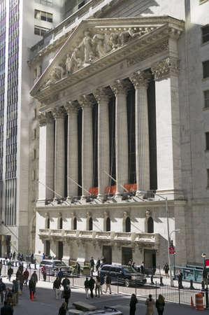 new york stock exchange: Veduta esterna del New York Stock Exchange a Wall Street, New York, New York