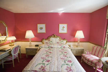 bedspread: Bedroom in Helmsley Park Lane Hotel in Manhattan, New York City, New York