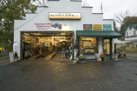 auto repair: Stony Point garage service station north of New York City along Hudson River, New York