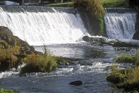 Tumwater Falls Park, OR, home of Olympia Beer Brewing Company Editorial